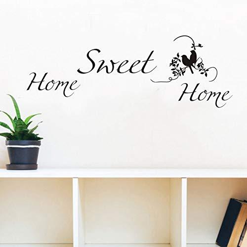 DLYD Tierische englische Wandaufkleber Hauptpersönlichkeit kreative einfache Wohnzimmer Schlafzimmer Wanddekoration selbstklebendes Papier 94cm x 43cm