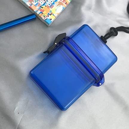 XIAOXIA Cigarrillo caso de almacenamiento de la tendencia de la caja del cigarrillo clave diagonalmente a través de la caja de tendencia impermeable transparente Halter