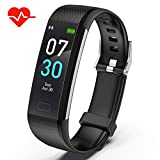 Akasma Fitness Tracker HR, S5 Activity Tracker Watch with Heart Rate Monitor, Pedometer IP68 Waterproof Sleep...
