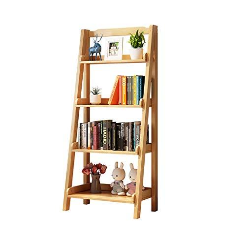 Cdbl Nordic boekenkast, van massief hout, balkonbloemenrek, magazijnrek, kant-en-klaar onderstel, verkrijgbaar in 2 kleuren en 2 maten rek