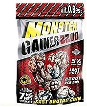 Carbohidratos MONSTER GAINER 2200 - Suplementos Alimentación y Suplementos Deportivos - Vitobest (Chocolate, 3 Kg)