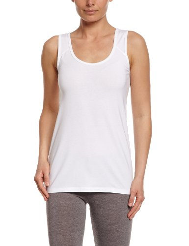 LOLË Savasana 2 - Camiseta de Fitness para Mujer, Color Blanco, Talla L