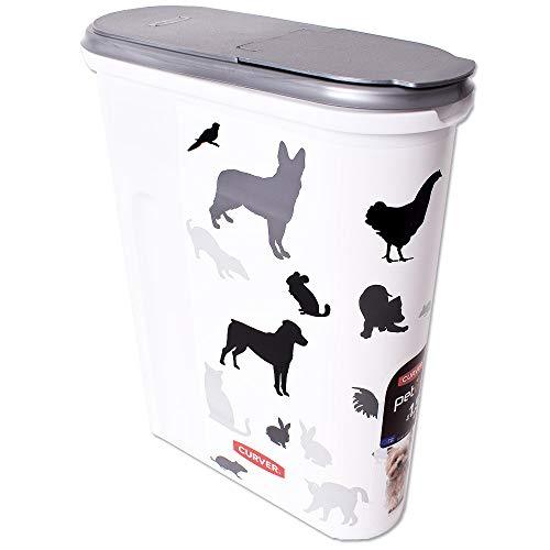 Curver Petlife Boîte Bac D'Alimentation Bac Servant à Alimenter les Animaux Futtercontainer Futteraufbewahrung Distributeur Motif Petits Animaux 4,5 Litre 1,5 kg Multicolore