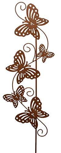 Garten-Deko Metall-Stecker Garten-Stecker Deko-Stecker mit Schmetterlingen Rost