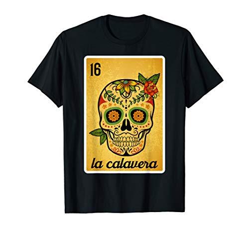 Das Schädel-Lotterie-mexikanisches Lotterie-Bingo-Hemd, der T-Shirt