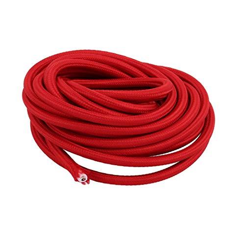 New Lon0167 5Meters VDE Destacados Cable de conexión eficacia confiable a tierra con conexión a tierra para la línea de cable trenzado de la lámpara de mesa Rojo(id:105 03 9e 25b)