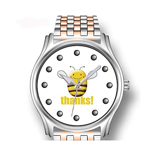 Herrenuhren Roségold Edelstahl Sport Business Watch Männliche Uhr Schwedische Waldkatze Cartoon Armbanduhren