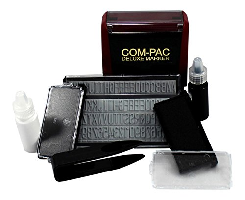 Com-Pac Deluxe Clothing Name Stamper – Fabric Rubberstamps Marking Kit – Do-It-Yourself Stamping and Labeling for Clothes