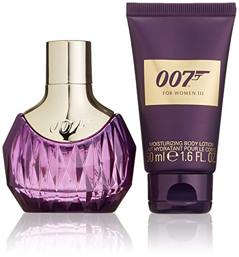 James Bond 007 Geurset voor dames, Eau de Parfum 30 ml + body lotion 50 ml, per stuk verpakt (1 x 80 ml) Woman III.