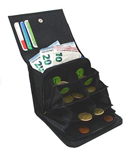 MAMJACK® Euro Porte-Monnaie Trieur monnayeur Euros Pratique avec 8 Compartiments Monnaie séparé