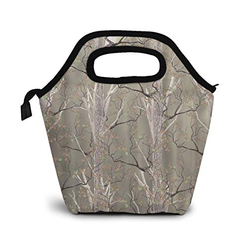NiWCGP Wildlife North Woods Real Branch Lunch Tasche Wasserdicht Leichte Picknicktasche Mittagessen Isoliertasche Thermotasche Auslaufsichere zur Arbeit und Schule gehen