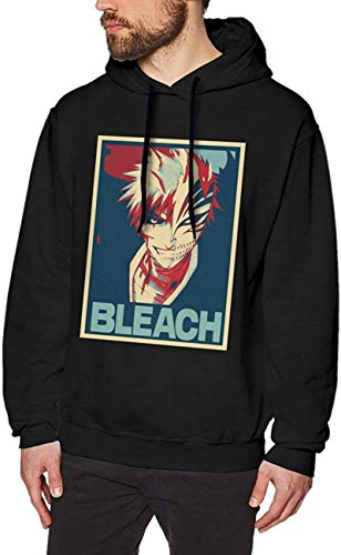 Anime Bleach Kurosaki Ichigo Poster Style Men's Pullover Long Sleeved Sweatshirts Hoodies