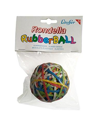 Läufer 59106 Rondella Rubberball, ca. 200 Gummibänder, Durchmesser 60mm, bunt sortierte Gummiringe in hervorragender Qualität