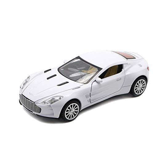 Modelo De Coche Famoso Escala 1/32 Para Aston Martin, Modelo De Coche Fundido A Presión, Juguetes De Coche Con Sonido, Luces, Juguete De Aleación, Colecciones De Regalo Para Niños ( Color : White )