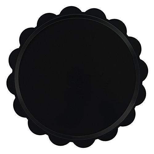 Platex 100037021D Plateau Déco Mat Dentelle Noir Diamètre: 37 cm