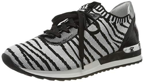 Remonte Damen R2508 Sneaker, Mehrfarbig (Silver/Black/Silver 90), 44 EU
