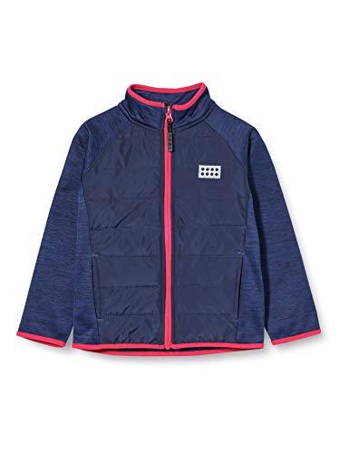 LEGO Wear Mädchen LWSAM FLEECEJACKE Jacke,, per pack Blau (Dark Blue 582), 122 (Herstellergröße: 122)
