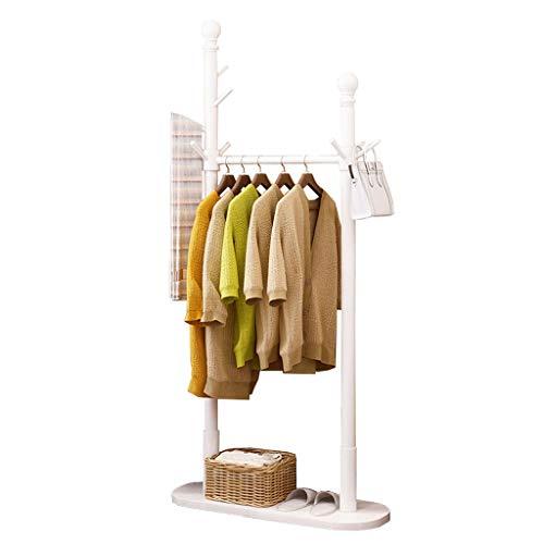 YIXIN2013SHOP Perchero de Pie Estilo Europeo de múltiples Funciones de Almacenamiento en el hogar Creativa Sala de Estar Dormitorio Bata Perchero para Abrigos (Color : A White)