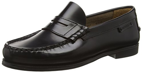 Sebago Plaza II W, Mocassins Femme,Noir (Black Leather) , 38 EU ( 7.5 US )
