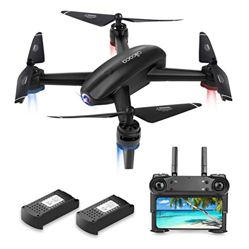 allcaca Drohne mit Kamera HD 720P Doppelkamera FPV RC Quadrocopter für Follow-Me-Gestensteuerung, APP-Betrieb, Höhenhaltung, 3D-Flip, Headless-Modus, VR-kompatibel, 2 Batterien enthalten, Schwarz