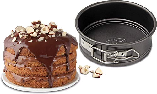 Dr. Oetker Springform Ø 16 cm, kleine Kuchenform mit Flachboden, runde Backform aus Stahl mit Antihaftbeschichtung (Farbe: schwarz), Menge: 1 Stück