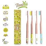 BAMB'YOU Brosse à dents en Bambou biodégradable - Naturel - Vegan - Écologique -...