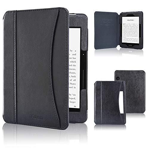 ACdream Case Fits Kindle Voyage 2014 Release, Folio Smart Cover Leather Case with Auto Wake Sleep Feature for Amazon Kindle Voyage, Black