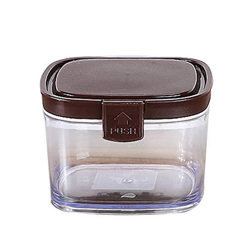 Verzegelde blikken, opslagtanks voor meergranen in de keuken, plastic transparante niet-glazen theeblikjes/melkpoeder/snacks kruidenpotjes,M1
