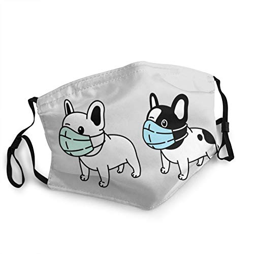 Unisex French Bulldog with Mask Half Face Mouth Cover Anti Dust Mask Scarf Headband Balaclava for Outdoors
