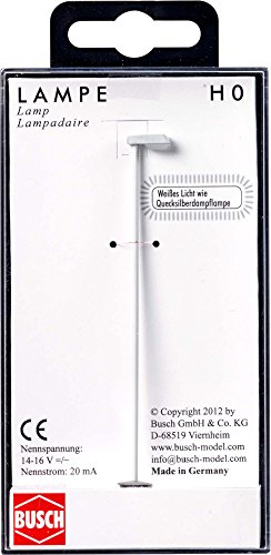 Busch 4198 Moderne Lampadaire 82 mm Échelle Ho Modèle d'éclairage