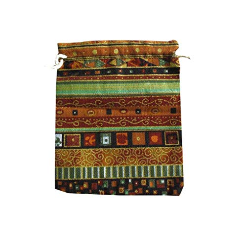 teng hong hui Étnica Bolsa de Estilo Unisex de impresión de algodón de Lino Bolsa de Almacenamiento étnica del pequeño Cambio de Lazo Monedero joyería Bolsa