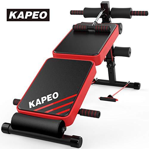 KAPEO トレーニングベンチ 腹筋 背筋 フォールディング フラットインクラインベンチ 折り畳み ダンベルベン...