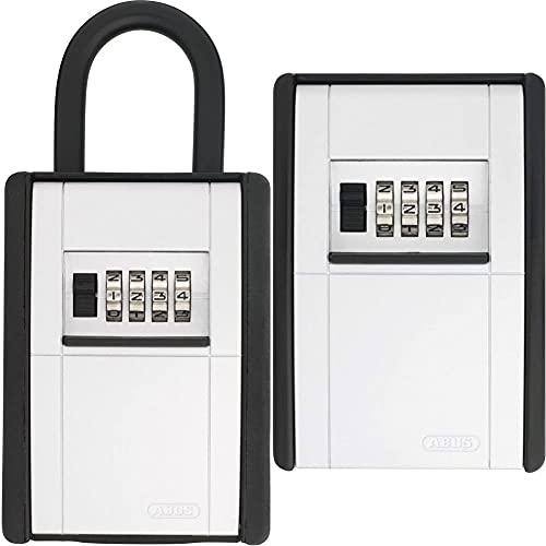 ABUS KeyGarage™ 797 - Schlüsselbox mit Bügel zur Befestigung - Schwarz-Silber & KeyGarage™ 787 - Schlüsselbox zur Wandmontage - Schwarz-Silber