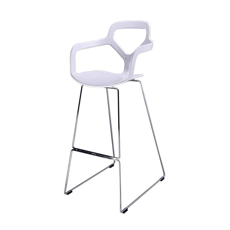 バースツールホワイトモダンダイニングチェアキッチン朝食背もたれフットレストパブラウンジチェアカウンター背の高い椅子鉄骨フレームプラスチックシート