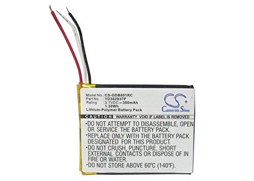 CS-GDB001RC Baterie 350mAh compatibel met [GOPRO] ARMTE-001, ARMTE-002, Hero 3, Hero 3+, Hero 4, HERO3, HERO4, Wi-Fi Remote vervangt YD362937P