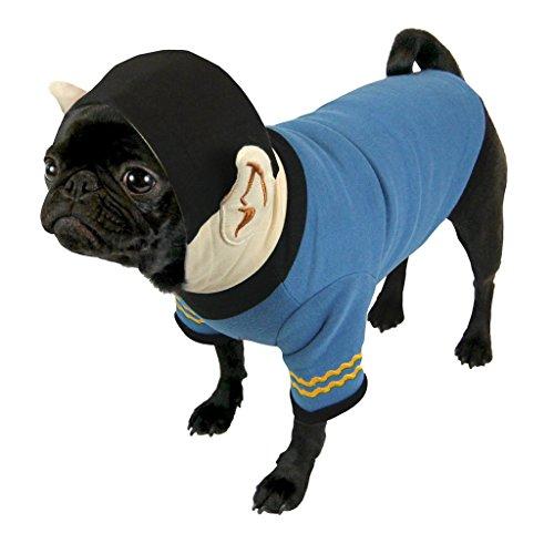Star Trek - hondenkostuum hoodie - Captain Spock (S-XL), Large