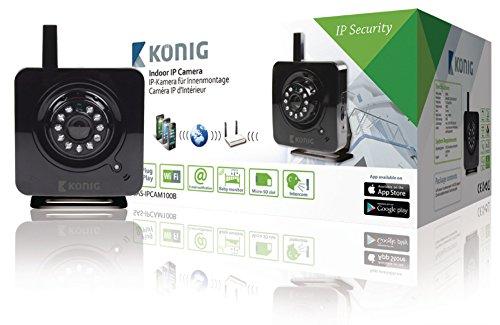 König SAS-IPCAM100B Videocamera IP da Interni, Nero
