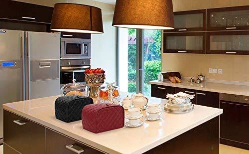 Toaster-Abdeckung-Polyestergewebe-gesteppt-vier-Scheiben-Toaster-Geraete-staubdicht-fuer-Kueche-kleine-Geraete-Staubschutz-und-Fingerabdruckschutz-schwarz