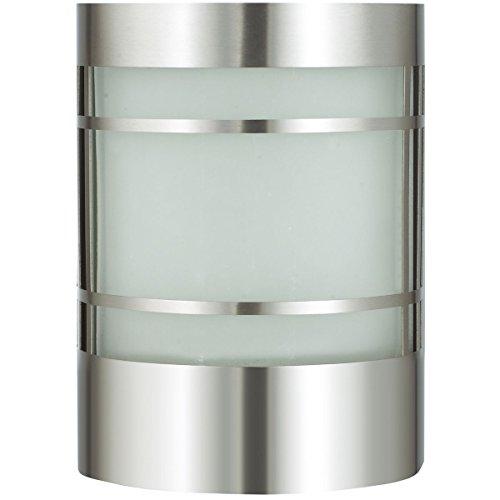 Wandlamp LED zonder bewegingsmelder 10 Watt RVS wandlamp buitenlamp EEK A+ tuinlamp buiten-wandlamp met echt glas