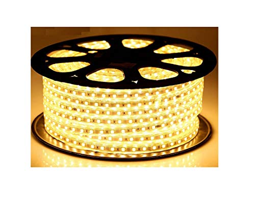 Mufasa 3014-120 Led Waterproof Strip Rope Pipe Light SMD Roll (120 Led/Mtr) (Warm White, 5 Meter)