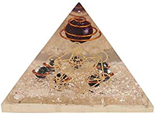 Aatm Energy Generator Crystal orgone Pyramid with Sacred Metatron Cube Symbol