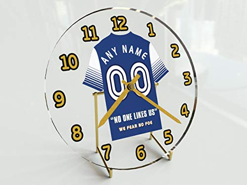 MyShirt123 Sky Bet League One Football League - Football Kit Desktop Clocks - Any Name, Any Number, Any Team - Teams M TO Y