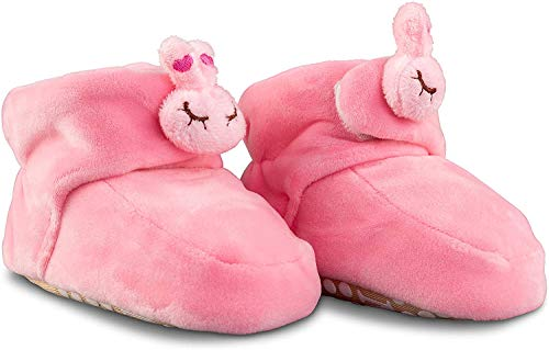 Miana Baby Booties (0-6 Months, Pink)