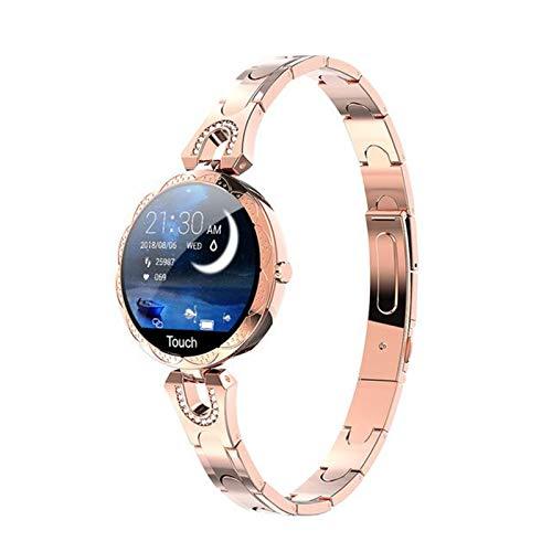 ZGLXZ AK15 Moda Mujer Smart Reloj Monitor De Ritmo Cardíaco HD Pantalla De Color Bluetooth Pasómetros Deportes Fitness Reloj Inteligente Señora para Android iOS,D