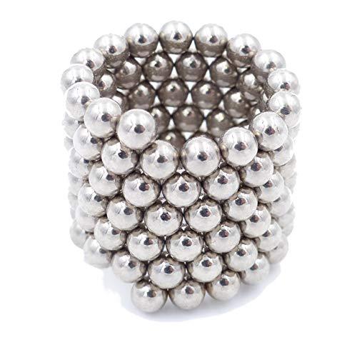 Brudazon | 60 Power kogelmagneten 4 mm | Neodymium magneten ultrasterk - N38 | Mini-magneet voor modelbouw, whiteboard, prikbord, koelkast, knutselen | magnetische bal extra sterk