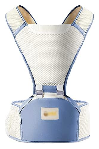 HSFS mochilas portabebé ergonómico Portador de bebé Frente y trasero Tallas de uso Multifuncionales de doble uso Portátil portátil y Taburete de cintura simple transpirable Adecuado para bebés mochila