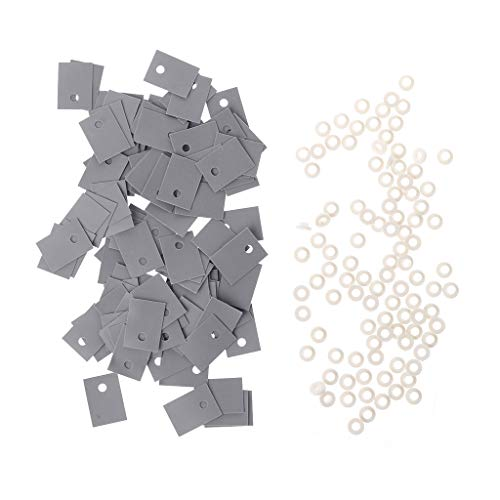 Kcibyvx 100PCS TO-220 Transistor de arandela de aislamiento de plástico y TO-220 Set de aislante de almohadillas de silicona