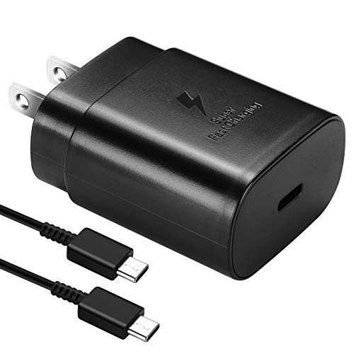 USB C Charger-25W PD Wall Charger Fast Charging for Samsung Galaxy S20/S21/S21+/S21Ultra/S10 5G /Note 10/Note 10 Plus/Note 20/S9 S8/S10e,iPad Pro 12.9/11,Google Pixel 3a 4 3 2 XL and 5ft Type C Cable