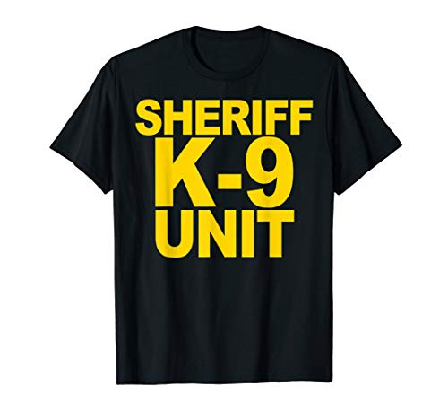 Sheriff K-9 Unit Shirt Front Print Law Enforcement Clothing