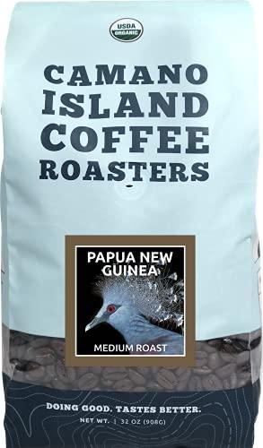 Camano Island Coffee Roasters - Organic Fresh Roasted Coffee - Papua New Guinea Medium Roast - Whole Bean - 2 Lb